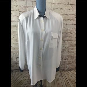 Givenchy En Plus Button Front Blouse Size 18
